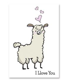 Look at this Llama Love Card - Set of Eight on #zulily today!