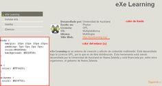 Modificando un estilo de eXeLearning