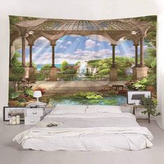 OFF] 2019 Printing Window Sill Seascape Tapestry In Multicolor A Cheap Wall Tapestries, Tapestry Wall Hanging, Wall Hangings, Home Wall Decor, Bedroom Decor, Dawn Homes, Blanket On Wall, Wall Blankets, Couleur Or Rose