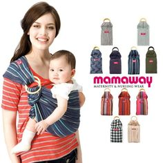 Mamaway Ring Sling Baby Carrier - One Size Fits All - Easy On Your Back - Comfort For Your Baby - Can Be Used For Different Positions - Breastfeeding Privacy - Ocean Lanna