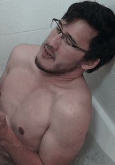 Markiplier... TONGUE WIGGLE GIF! by TheToxicDoctor on DeviantArt. This is when he did the ice bath challenge, I remember this XD