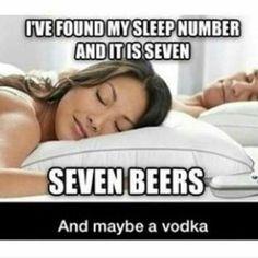 My sleep number is 7...