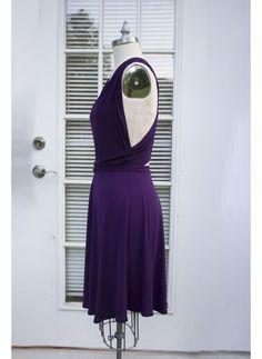 Deep Purple Convertible Dress/Infinity Dress