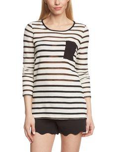 ONLY Damen Langarmshirt Onlholva L/s Jrs, Gestreift: Amazon.de: Bekleidung