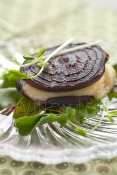 Grilled Beet & Cheese Stacks