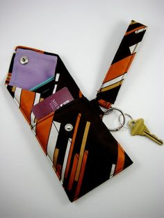 Turn a tie into a wristlet - I've been doing this kind of thing forever, they're so cute!