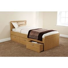 Lucca Cabin Single Bed With Storage   Single (W90 x L190cm)   ASDA direct