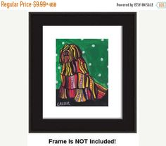 50% Off- Art Posters Modern Dog Art Bergamasco Print art dog Poster Print of painting by Heather Galler (HG139)