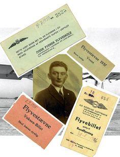 Fars havde stor interesse for flyvning specielt i dens barndom i 1930-erne, hvor der stadig var et romantisk skær over flyvning. Det er her illustreret med Fars billetter til flyvestævner samt billetter til rundflyvning, som han omhyggeligt har gemt. Den slags flyveopvisninger kunne samle et stort antal mennesker.