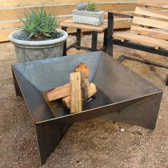 metal outdoor fire pit