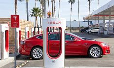bakersfield ca - december 18 tesla super charging station on stockdale hwy and the 5 fwy. tesla supercharger stations allow tesla cars to be fast-charged at the network within an hour. Tesla For Sale, Buy A Tesla, Tesla Ceo, Tesla Owner, Shelby Gt500, Mustang Shelby, Mercedes Amg, Sun Plan, New Shopkins