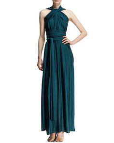 Draped Halter Goddess Gown by Lanvin at Bergdorf Goodman.