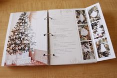 I like the foldout page to highlight Christmas ornaments or to include extra photos!