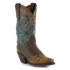 There are many pairs of boots, but hers were the most beautiful in all the land!!!  (See these beauties LIVE and in-person at our next Make Mine Acoustic gig!!)  Dan Post Women's Vintage Blue Bird Snip Toe Western Boots