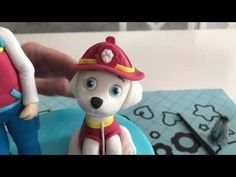 How to make Paw Patrol Marshall in fondant - YouTube