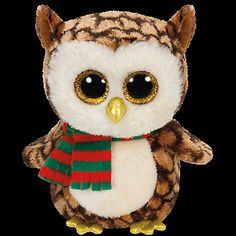 """Ty Beanie Boos Boo's ~ WISE the 6"""" Holiday Owl ~ 2015 NEW Release ~ w/ Tags"""