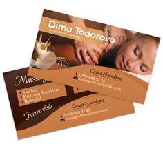 Дизайн и печат на визитки за масажни услуги http://mdobrev.com/work/vizitki-za-masazhni-uslugi/