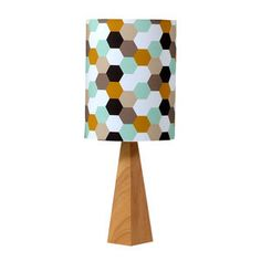 Hexagon Wooden Table Lamp by Hunkydory Home on notonthehighstreet.com