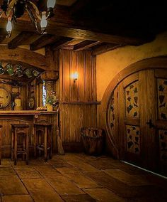 Hobbit Cafe - The Green Dragon is a place to drink, a place to meet, a place to rest your hairy feet. Hobbit Pub is located in Hobbiton (Matamata), New Zealand. Hobbit Cafe, The Hobbit, Hobbit Door, House Front, My House, Medieval, Earth Homes, Green Dragon, Middle Earth