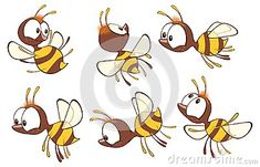Illustration Of A Cute Yellow Bee. Cartoon Character Stock Vector - Illustration of buzz, mosquito: 115375237 Bug Cartoon, Cartoon Drawings, Animal Drawings, Bee Illustration, Character Illustration, Illustrations, Cute Little Drawings, Cute Drawings, Bugs Drawing