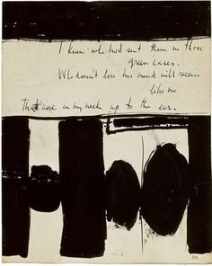 "artemisdreaming: "" Robert Motherwell Elegy to the Spanish Republic No. 1948 Medium: Ink on paper Object number: The Museum of Modern Art (MOMA, NYC) Description from The Metropolitan. Robert Motherwell, Tachisme, Willem De Kooning, Mark Rothko, Jackson Pollock, Contemporary Paintings, Contemporary Stairs, Contemporary Building, Contemporary Cottage"