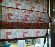 Roman shades in VeryCherry's Baking Stuff fabric
