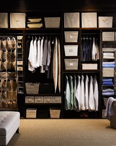 ...Really who closet looks like this!!!  Not mine, don't have the room for baskets let alone the clothes!