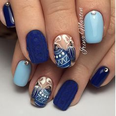 Nails Design Winter Christmas Ideas For 2019 Holiday Nail Art, Winter Nail Art, Christmas Nail Art, Winter Nails, Winter Christmas, Christmas Ornament, Nail Design Spring, Winter Nail Designs, Nail Art Designs