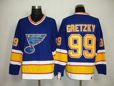 CCM St. Louis Blues 99 Wayne GRETZKY ThrowBack Jersey