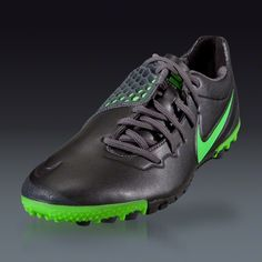 Nike Nike5 Bomba Finale - Metallic Dark Grey/Electric Green Turf Soccer Shoes || SOCCER.COM