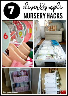This post has AWESOME ideas for organizing your nursery. So many great hacks. via BabyCenter