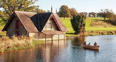 Boat House On The Rye Water - County Kildare, Ireland Print by Barry O Carroll Boat House, Rye, Beverly Hills, Fine Art America, Ireland, Instagram Images, Cabin, House Styles, Water
