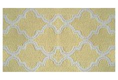 "1'4"" x 2'3"" Jafar Rug, Yellow/White on OneKingsLane.com"