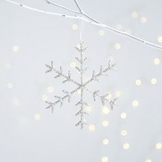 Buy Beaded Snowflake - Large - from The White Company