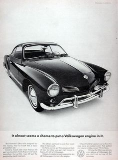 1965 Volkswagen Karmann Ghia Ad - USA