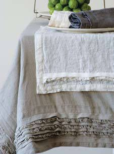 vintage linen  http://designmeetscomfort.com/2012/07/31/how-pinteresting-linen-and-leather/