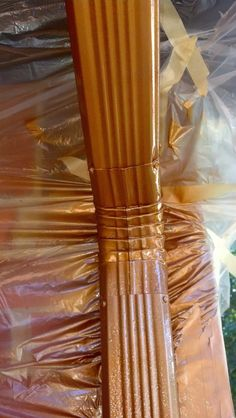 The ONLY blog that I could find that had a how to on making your existing gutters look copper! I love copper....must try this.