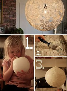 DIY Doily Lamp DIY Projects | УсефулДИИ.цом