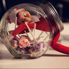 Candy Craving: Instagram's  insta_xmas_elves_ideas decided to go diving for candy.  Source: Instagram user insta_xmas_elves_ideas