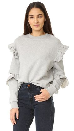 ¡Consigue este tipo de sudadera básica de SJYP ahora! Haz clic para ver los detalles. Envíos gratis a toda España. SJYP Sleeve Slit Frill Sweatshirt: A crew-neck SJYP sweatshirt with ruffles at the shoulders and sleeve cutouts. Ribbed edges. Fabric: French terry. 100% cotton. Wash cold. Imported, Korea. Measurements Length: 26in / 66cm, from shoulder Measurements from size S (sudadera básica, basic, basico, basica, básico, basicos, casual, clasica, clasicas, clásicas, clásica, básico...
