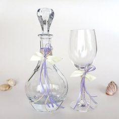 Καράφα και Ποτήρι γάμου κρυστάλλινα Βοημίας