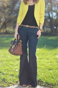 Blazer: H & M, Pants: Gap ('11), Shirt: F21 (old), Shoes: DSW ('11), Bag: Cynthia Rowley, Belt: Target   Necklace: BaubleBar