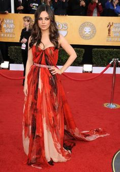 Top 20 Looks from the 20 Past SAG Awards | Mila Kunis, 2011.Mila Kunis, 2011     Mila Kunis nailed it in this sexy, carefree gown by Alexander McQueen.