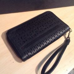 Black wallet/ wristlet Super cute wrist wallet. Aztec style design on outside. New without tags! Bags Clutches & Wristlets