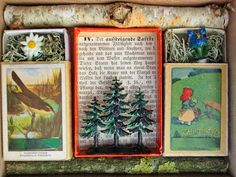 mano kellner, kunstkiste nr 44, der alte vom berge - detail (sold) Christmas Crafts For Kids, Christmas Projects, Matchbox Art, Arts And Crafts, Paper Crafts, Tin Art, Christmas Planning, Found Art, Assemblage Art