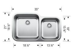 BLANCO SUPER SUPREME U 1 3/4 UNDERMOUNT SINK