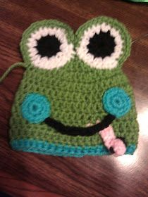 Look It's Megryansmom: Crocheted Frog Hat Directions