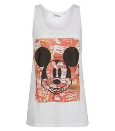 White Mickey Mouse Vest