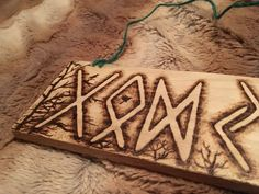 Excited to share the latest addition to my #etsy shop: God Jul Good Yule in norse Elder Futhark woodburning pyrography #art #drawing #christmas #xmas #holidays #godjul #norse #heathen #pagan https://etsy.me/2HfHnmO
