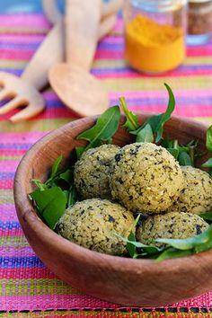 Polpettine di miglio, quinoa e ortica
